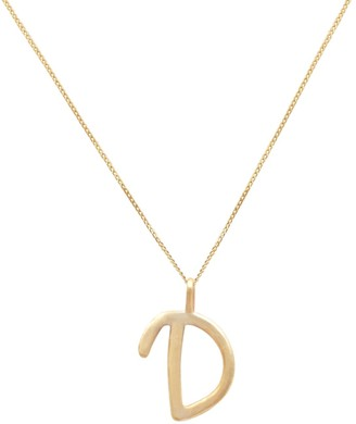 Lily Flo Jewellery 14K Solid Gold Letter D Pendant Necklace