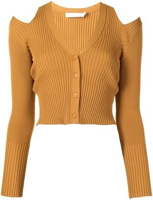 Jonathan Simkhai Jolie cold-shoulder cardigan