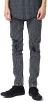 Topman Acid Wash Ripped Stretch Skinny Jeans