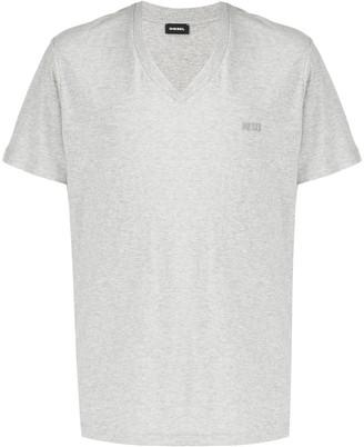 Diesel V-neck slub cotton T-shirt