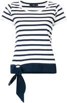 Steffen Schraut striped T-shirt with bow detail
