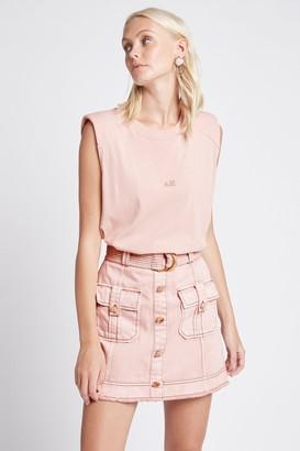 Aje Darcel Denim Utility Skirt