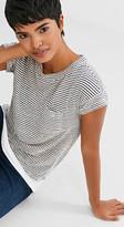 Esprit Mock layer T-shirt with linen
