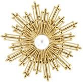 Oscar de la Renta Pearl Sun Star Brooch