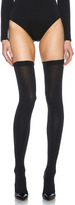 Fatal 80 Seamless Stay Up Nylon-Blend Tights in Black