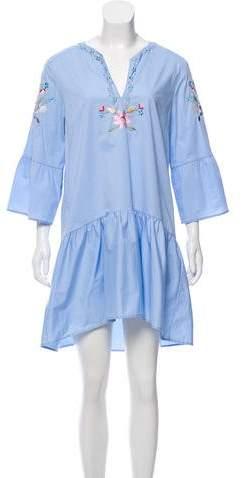 Vilshenko Embroidered Knee-Length Dress