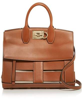 Salvatore Ferragamo Small Caged Leather Studio Bag
