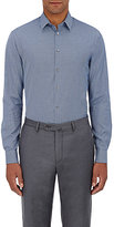 Giorgio Armani Men's Neat-Pattern Cotton Shirt-NAVY
