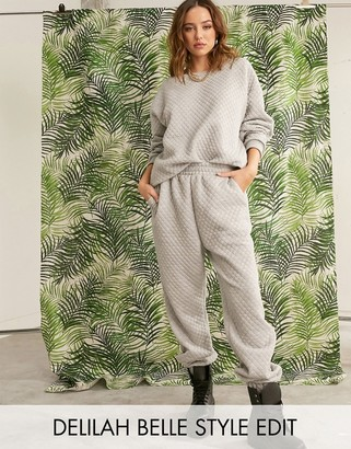 ASOS DESIGN co-ord quilted jogger
