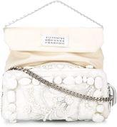 Maison Margiela embellished shoulder bag - women - Leather/Silk/glass/Acrylic - One Size