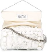 Maison Margiela embellished shoulder bag - women - Silk/Cotton/Leather/glass - One Size