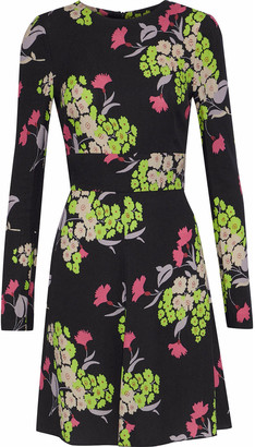RED Valentino Floral-print Crepe Mini Dress