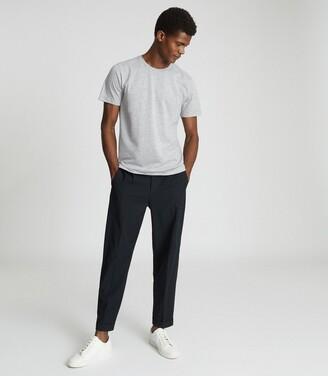 Reiss Bless - Regular Fit Crew Neck T-shirt in Grey Marl