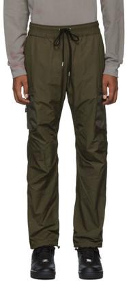 John Elliott Green High Shrunk Nylon Cargo Pants