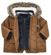 F&F 3 in 1 Quilted Gilet and Parka, Newborn Boy's