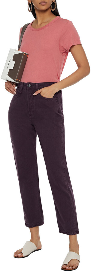 Thumbnail for your product : Rag & Bone Maya Cropped High-rise Straight-leg Jeans