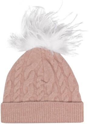 Eugenia Kim Maddox ostrich pompom beanie hat