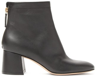 Gianvito Rossi Round-toe Leather Ankle Boots - Womens - Black