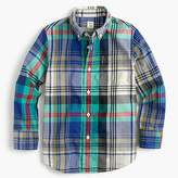 J.Crew Kids' lightweight flannel shirt in multicolored plaid