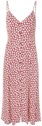 Reformation Gemstone floral-print midi-dress