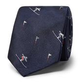 Thom Browne 6cm Skier-Patterned Silk-Jacquard Tie