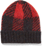 Rag & Bone Cammie Plaid knitted hat