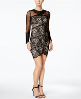 Jax Illusion Mesh Lace Sheath Dress