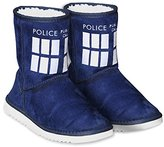 Doctor Who Women's TARDIS Boot Slippers Medium 7