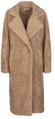 P.A.R.O.S.H. Camel Eco-fur Long Coat