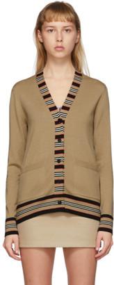 Burberry Tan Icon Stripe Cardigan