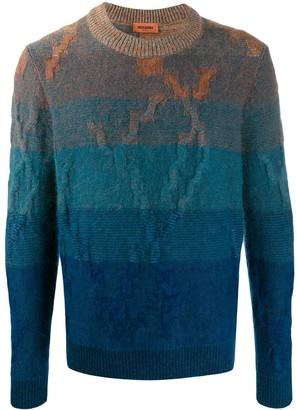 Missoni colour block patterned sweater