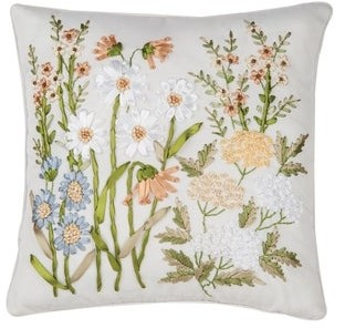 C&F Home Hand Crafted Ribbon Art Decorative Accent Throw Pillow