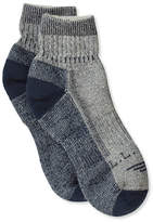 L.L. Bean Men's Cresta Hiking Socks, Wool-Blend Midweight Quarter Crew, One Pair