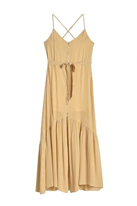 Hyfve Stripe Waist Tie Sleeveless Dress