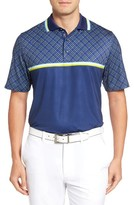 Bobby Jones Men's Xh20 Raker Print Stretch Golf Polo