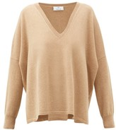 Allude V-neck Cashmere Sweater - Womens - Beige