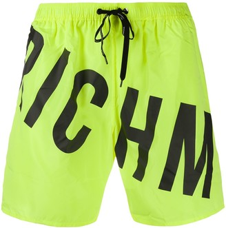 John Richmond Bron logo-print swim trunks