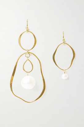 Chan Luu Gold-plated Pearl Earrings - one size