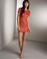 Sequined Sheath Dress, Orange/Gold