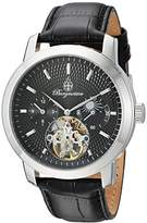 Burgmeister Men's Automatic Watch with Black Dial Analogue Display and Black Leather Bracelet BM225-122