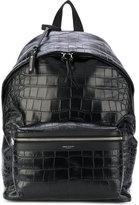 Saint Laurent City backpack - men - Cotton/Leather - One Size