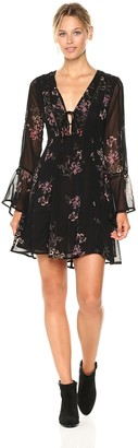 ASTR the Label Women's Crystal Floral Print Dress