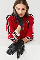 Urban Outfitters Faux Leather Fringed Glove