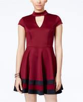 City Studios Juniors' Gigi Mock-Neck Colorblocked Dress