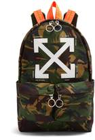 Off-White Logo-print camouflage backpack