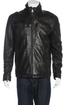 Andrew Marc Leather Zip Jacket