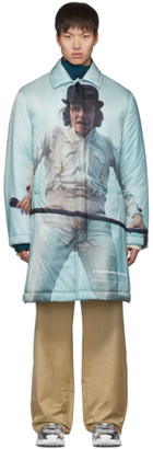 Undercover Grey A Clockwork Orange Alex Print Coat