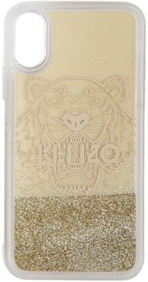 Kenzo Gold Glitter Tiger Head iPhone X/XS Case