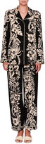 Valentino Tropical Dream Silk Pajama Blouse, Black
