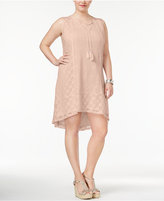 Style&Co. Style & Co Plus Size Lace Peasant Dress, Created for Macy's